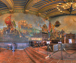 Santa barbara courthouse mural room by bill heller for Mural room santa barbara